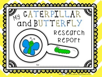Caterpillar and Butterfly KWL Research And Informational Writing Pack Sample