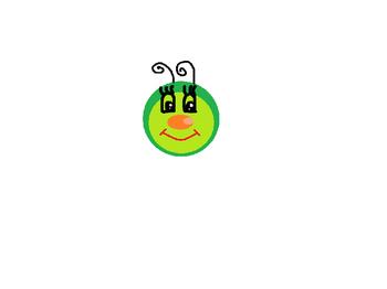 FREEBIE CLIP ART... Caterpillar face and rainbow circle frames (transparent)