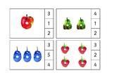 Caterpillar practice numbers 0 to 5