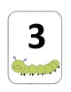Caterpillar themed numbers