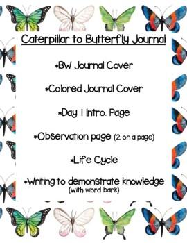 Caterpillar to Butterfly Journal