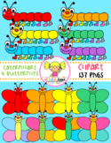 Caterpillars & Butterflies Clipart