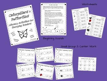 Caterpillars and Butterflies: Short e CVC Activities for Emerging Readers