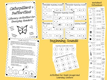 Caterpillars and Butterflies: Short o CVC Activities for Emerging Readers