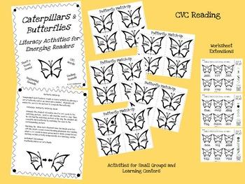 Caterpillars and Butterflies: Short o CVC Activities for Emerging Readers
