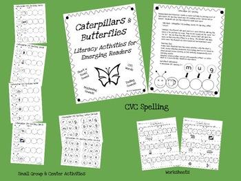 Caterpillars and Butterflies: Short u CVC Activities for Emerging Readers
