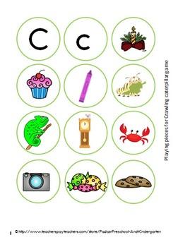 Caterpillars and Castles, Preschool activities for the letter C
