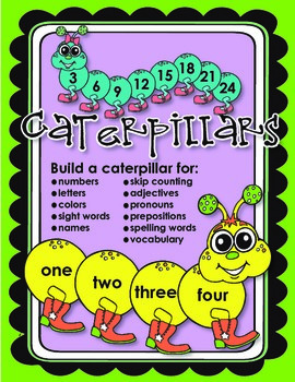 Caterpillars (wall display, bulletin board, and manipulative)
