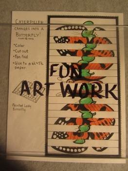 Caterpiller Changes Into Butterfly Folding Project. Fun Craft Art