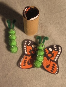 Caterpiller, Chrysalis, Butterfly Metamorphosis Project. Fun Craft Art