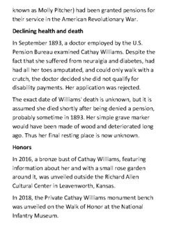 Cathay Williams Handout