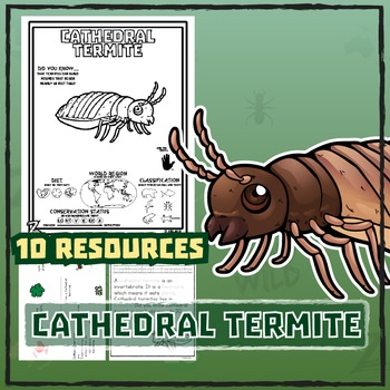 Cathedral Termite -- 10 Resources -- Coloring Pages, Readi