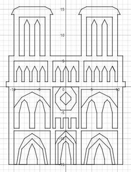 Cathédrale Notre Dame - A Coordinate Graphing Activity