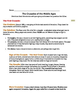 Catherine Call Birdy by Karen Cushman-Crusades Activity-informational text