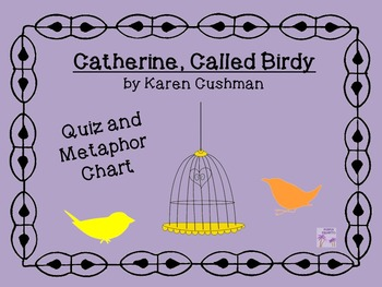 Catherine, Called Birdy Quiz and Metaphor Chart
