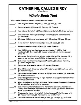 Catherine, Called Birdy    Whole Book Test
