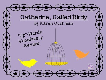 """Catherine, Called Birdy """"Words Up"""" Vocabulary Review"""