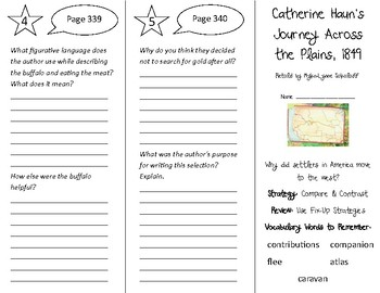 Catherine Hauns Journey Across the Plains Trifold -5th G Literacy by Design T 10