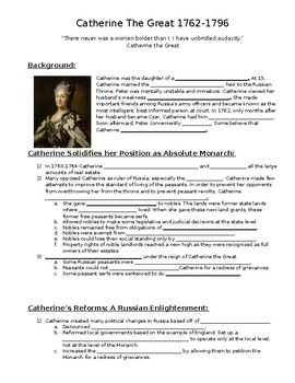 Catherine the Great Guided Notes
