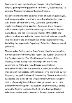 Catherine the Great Handout