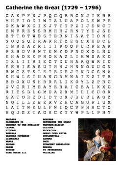 Catherine the Great Word Search