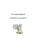 Catholic 10 Commandment Summative Assessment