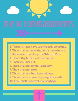 Catholic 10 Commandments Poster