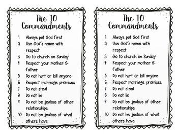 Image result for kinder friendly catholic 10 commandments