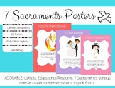 Catholic 7 Sacraments Posters and Quiz - Seven Sacraments - Religion