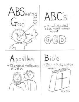 Catholic A-B-Seeing God Booklet - alphabet book