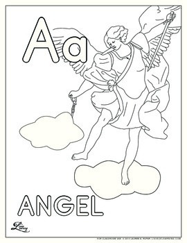 Catholic ABC Coloring Pages by Mothering Wonder | TpT