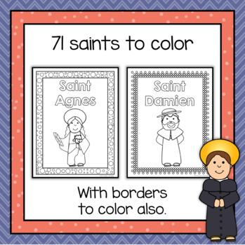 Catholic Saints Coloring Pages by Heaven\'s Little Helper - Teresa Herkel