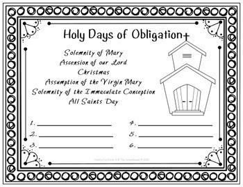 Catholic Alphabetical Order Sheets