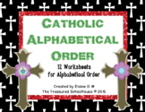 Catholic Alphabetical Order Sheets