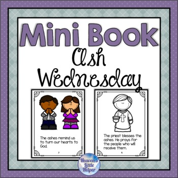 Catholic Ash Wednesday Mini Book for Lent