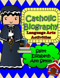 Catholic Biography Language Arts Activities - Saint Elizab