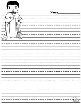 Catholic Biography Language Arts Activities - Saint Martin de Porres