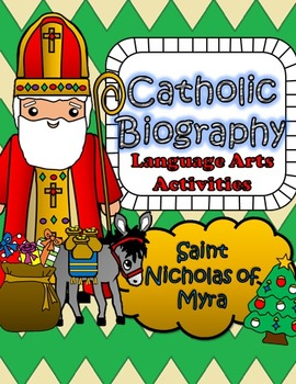 Catholic Biography Language Arts Activities - Saint Nichol