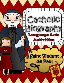 Catholic Biography Language Arts Activities - Saint Vincent de Paul