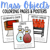 Catholic Church Furniture and Altar Vessels Posters and Coloring Pages, CCD