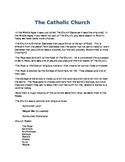 Catholic Church Info Sheet