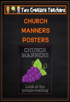 Catholic Church Manners Posters
