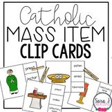 Catholic Mass Objects Clip Cards
