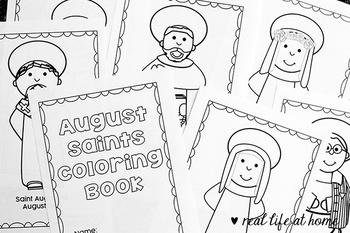 Catholic Coloring Book of Saints for August
