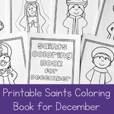 Catholic Coloring Book of Saints for December