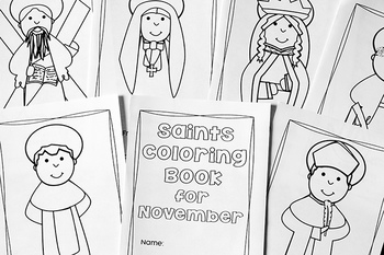 Catholic Coloring Book of Saints for November