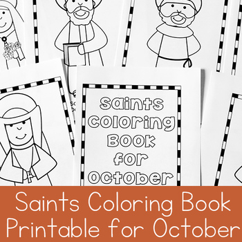 Catholic Coloring Book of Saints for October by Real Life at Home