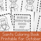 Catholic Coloring Book of Saints for October