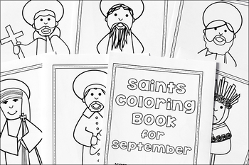 Catholic Coloring Book of Saints for September