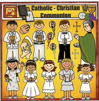 Catholic Communion - Christian Kids Clip Art by Charlotte's Clips